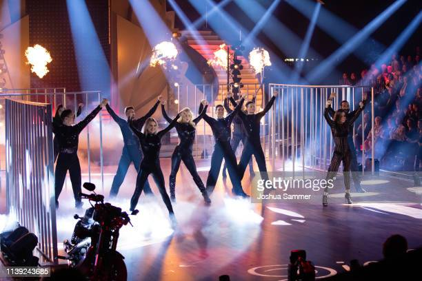 Dancers perform on stage during the 2nd show of the 12th season of the television competition Let's Dance on March 29 2019 in Cologne Germany
