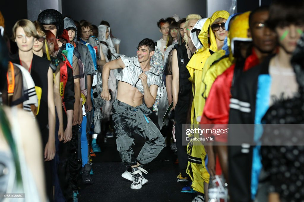 Dancers perform on the runway at the MCM Fashion Show Spring/Summer 2019 during the 94th Pitti Immagine Uomo on June 13, 2018 in Florence, Italy.
