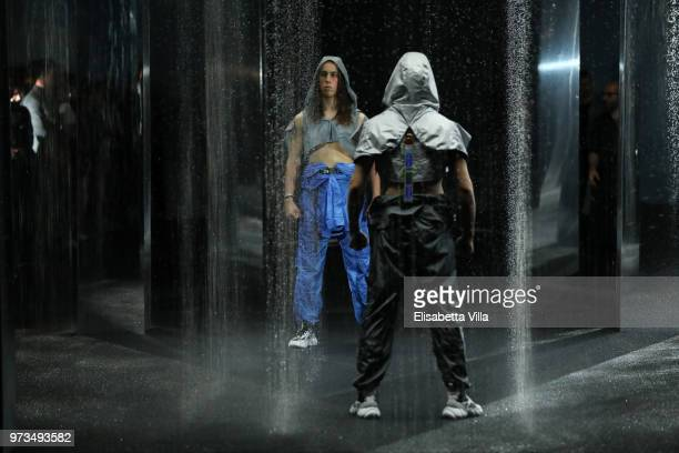 Dancers perform on the runway at the MCM Fashion Show Spring/Summer 2019 during the 94th Pitti Immagine Uomo on June 13 2018 in Florence Italy