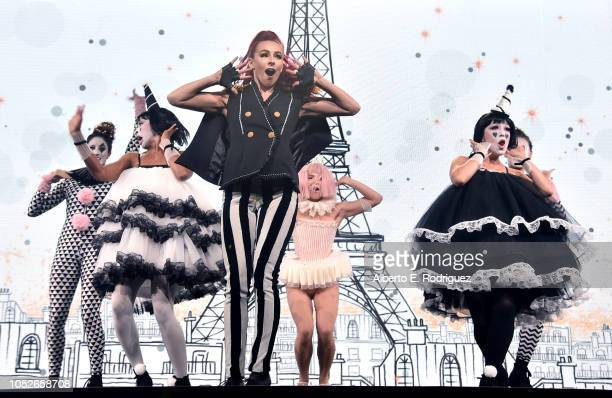 Dancers perform onstage at the 2018 Children's Hospital Los Angeles 'From Paris With Love' Gala at LA Live on October 20 2018 in Los Angeles...