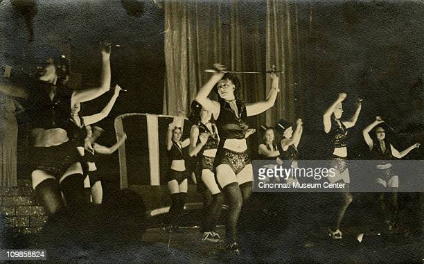 Dancers perform onstage at the Gaiety Burlesque Theater Cincinnati Ohio 1938