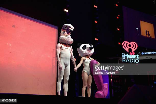 Dancers perform onstage during recording artist Sia's appearance at the 2016 iHeartRadio Music Festival at T-Mobile Arena on September 23, 2016 in...