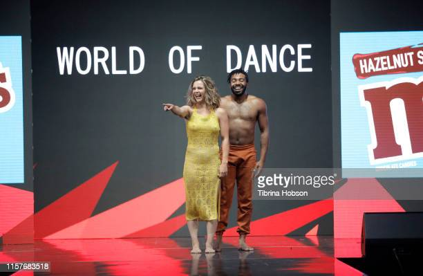 Dancers perform onstage during World of Dance at BET Her Presents Fashion Beauty during the BET Experience at Los Angeles Convention Center on June...