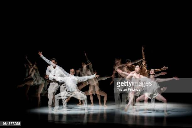 Dancers perform Stop Motion during the Nederlands Dans Theater 1 Photocall at Sadler's Wells Theatre on June 26 2018 in London England