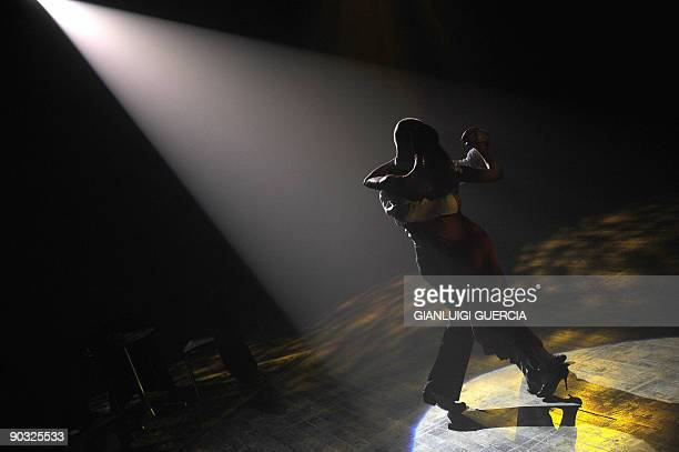 Dancers perform Tango on September 03 2009 during an artistic event of theatre and fashion in Cape Town South Africa The event that took place in a...