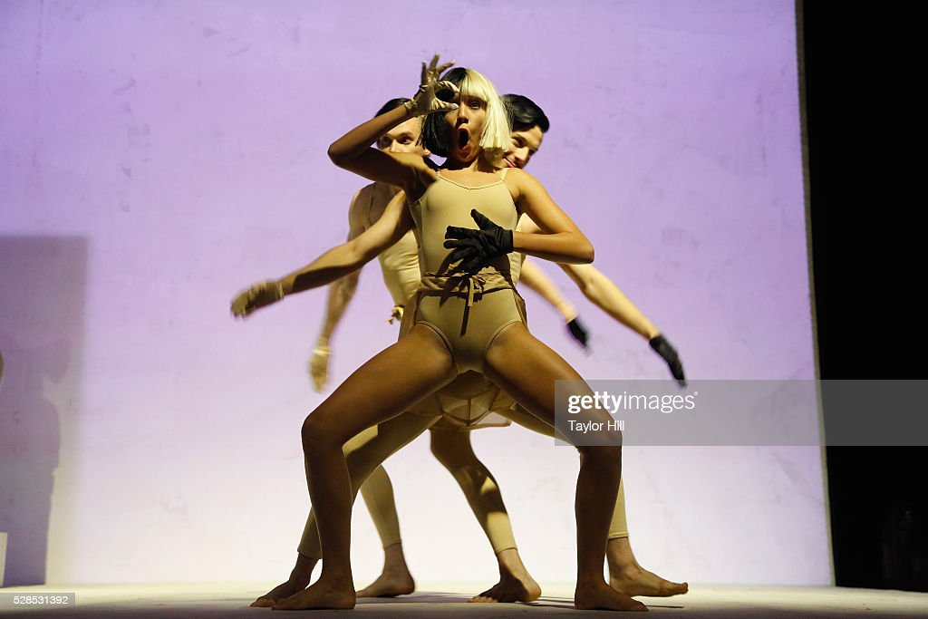Dancers perform to Sia during YouTube Brandcast presented by