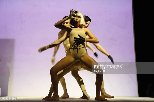 Dancers perform to Sia during YouTube Brandcast presented by Google at Jacob Javitz Center on May 5, 2016 in New York City.