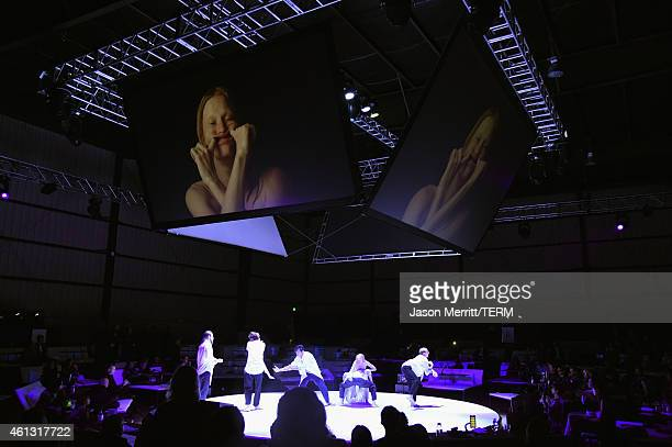 Dancers perform 'Wading Games,' choreographed by Ryan Heffington at the 8th Annual HEAVEN Gala presented by Art of Elysium and Samsung Galaxy at...