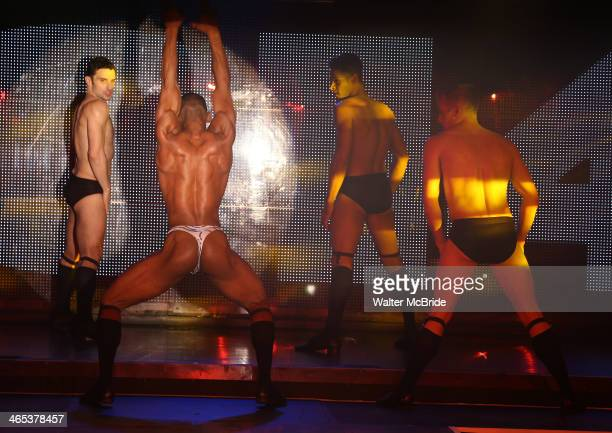 Dancers performing at Broadway Bares Winter Burlesque Calendar Girl at XL Nightclub on January 26 2014 in New York City