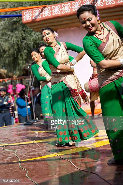 dancers performing classical dance in fair, surajkund, faridabad, haryana, india - faridabad stock pictures, royalty-free photos & images