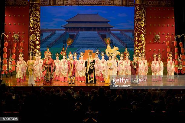 Dancers performing in the Tang Dance Show Shaanxi Grand Opera House Xian China
