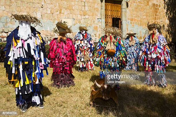 Dancers performing traditional dance, Oaxaca, Oaxaca State, Mexico