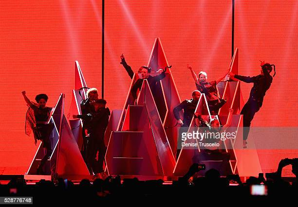 Dancers performs during opening night of the Selena Gomez 'Revival World Tour' at the Mandalay Bay Events Center on May 06 2016 in Las Vegas Nevada