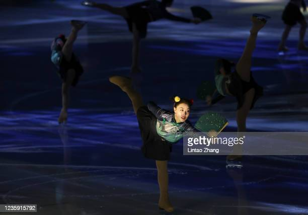 Dancers performs in the gala exhibition during day 4 of the 2021 Asia Open Figure Skating test event for the Beijing 2022 Winter Olympics at Capital...