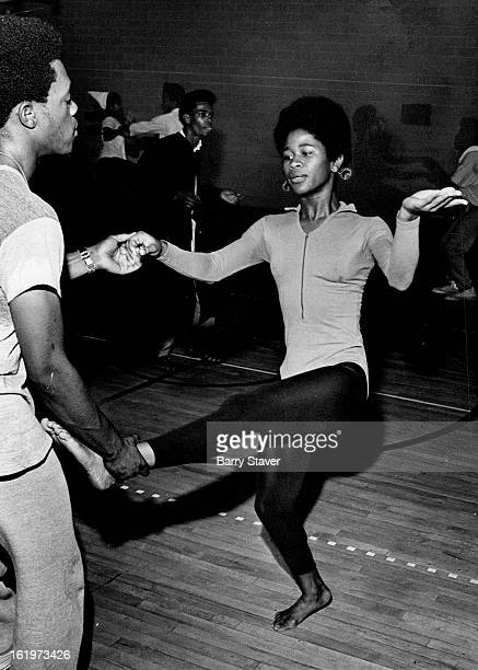 JUL 31 1970 AUG 4 1970 AUG 5 1970 Dancers Portray Life in City Winfred Lewis left and Jo Bunton dance out a scene examining hypocrisy in religion...