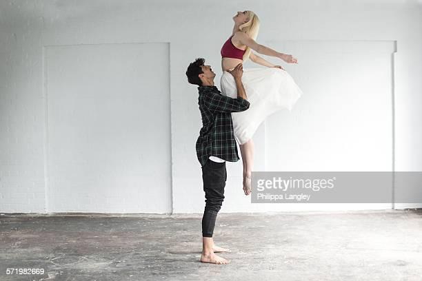 Dancers practising in studio