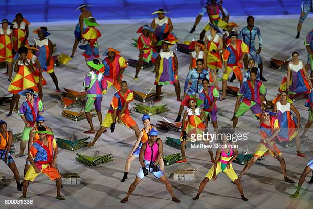 Dancers preform during the Opening Ceremony of the Rio 2016 Paralympic Games at Maracana Stadium on September 7 2016 in Rio de Janeiro Brazil