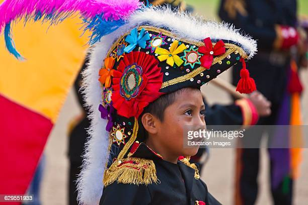 Dancers Reenact Zapotec History And Their Encounter With Cortez During The Guelaguetza Festival Cuilapan Mexico Near Oaxaca