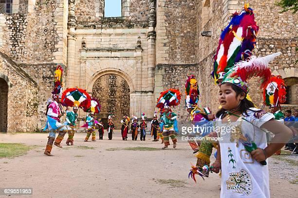Dancers Reenact Zapotec History During The Guelaguetza Festival Cuilapan Mexico Near Oaxaca