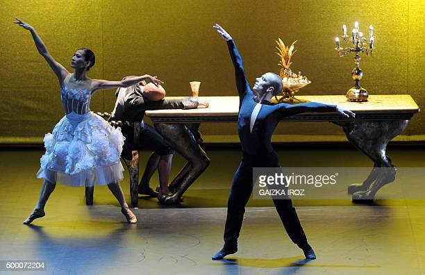 Dancers rehearse an adaptation of Beauty and the Beast with choreography by Thierry Malandain and music by Tchaikovski on December 4 2015 at the Gare...