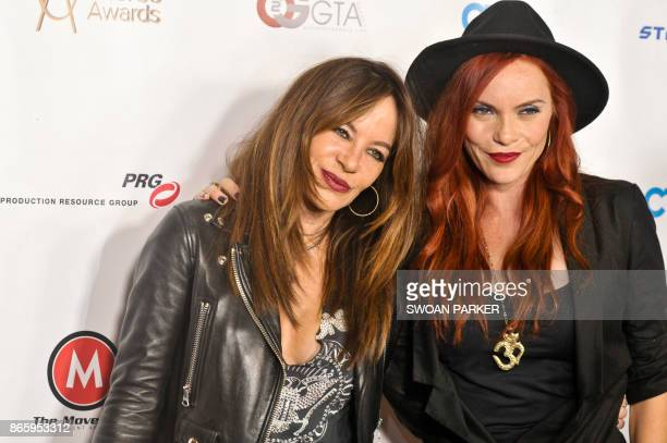 Dancers Robin Antin and Carmit attend the 7th Annual World Choreography Awards at Saban Theatre on October 23, 2017 in Beverly Hills, California.
