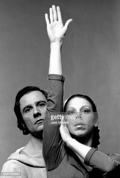 Dancers Royes Fernandez and Sallie Wilson in the American Ballet Theatre production of 'Sea Change' , December 1972.