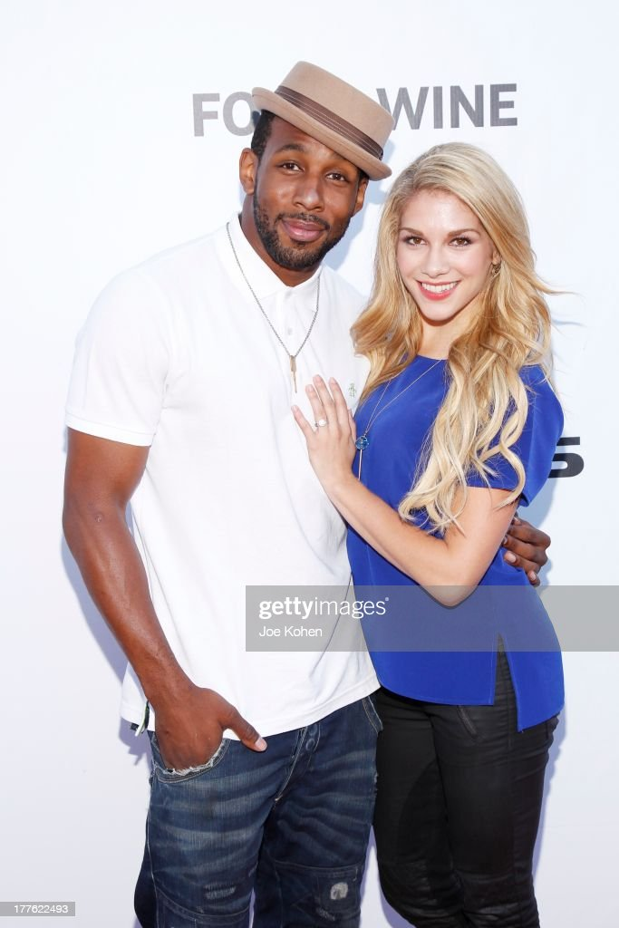 Dancers Stephen tWitch Boss and Allison Holker attend LEXUS Live On Grand At The 3rd Annual Los Angeles Food & Wine Festival on August 24, 2013 in Los Angeles, California.