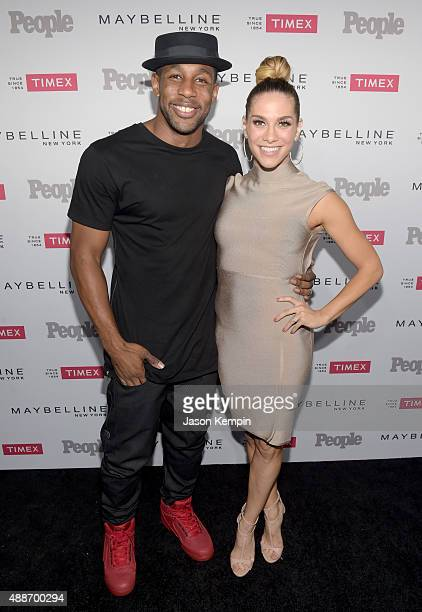Dancers Stephen Twitch Boss and Allison Holker attend PEOPLE's Ones To Watch Event on September 16 2015 in West Hollywood California