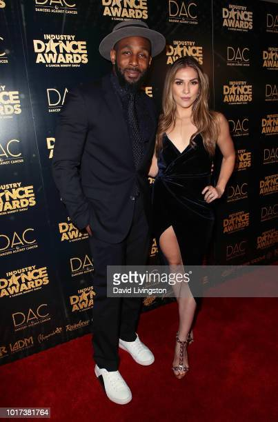 Dancers Stephen 'tWitch' Boss and Allison Holker attend the 2018 Industry Dance Awards at Avalon Hollywood on August 15 2018 in Los Angeles California