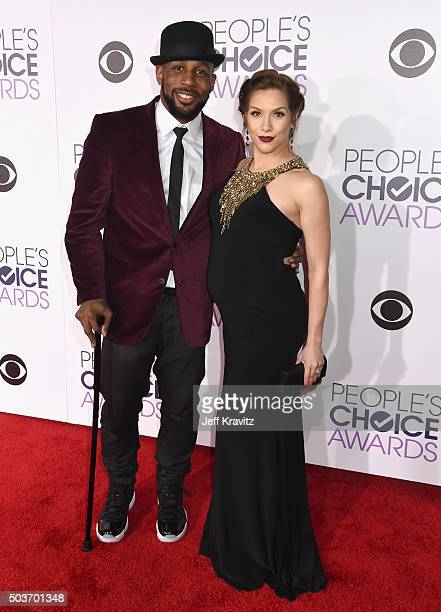 Dancers Stephen tWitch Boss and Allison Holker attend the People's Choice Awards 2016 at Microsoft Theater on January 6 2016 in Los Angeles California