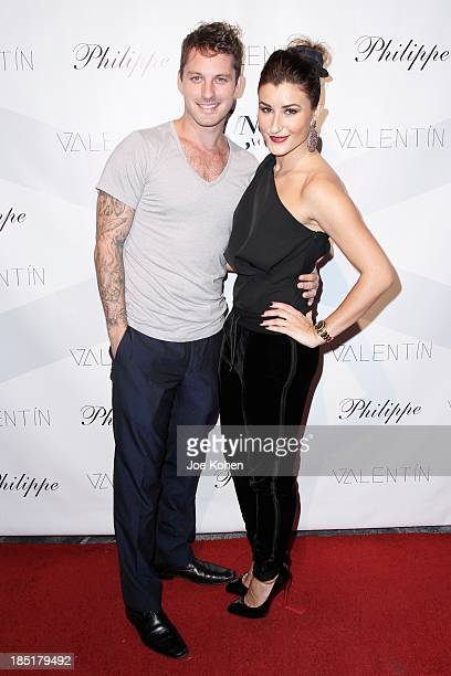 Dancers Tristan MacManus and Nicole Volynets attends Valentin Launch Party at Philippe Chow on October 17 2013 in Los Angeles California