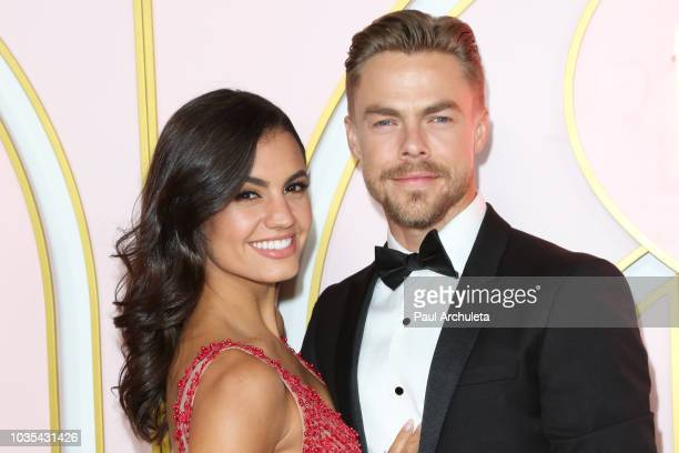 Dancers / TV Personalities Hayley Erbert and Derek Hough attend the Amazon Prime Video post 2018 Emmy Awards party at Cecconi's on September 17 2018...