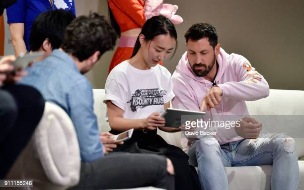 Dancers Valentin Chmerkovskiy and his brother Maksim Chmerkovskiy attend a news conference celebrating the 1st Anniversary of One Piece Thousand...