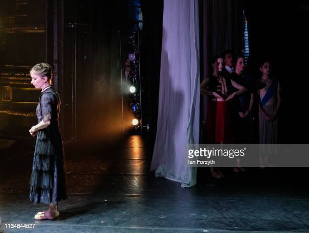 Dancers wait in the wings as Premier Dancer Pippa Moore performs during the World Premier of Northern Ballet's performance of 'Victoria' at Leeds...