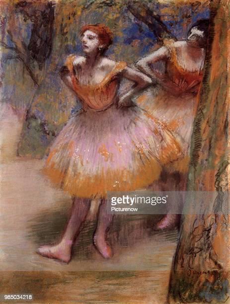 Dancers Wait in Wings Degas Edgar