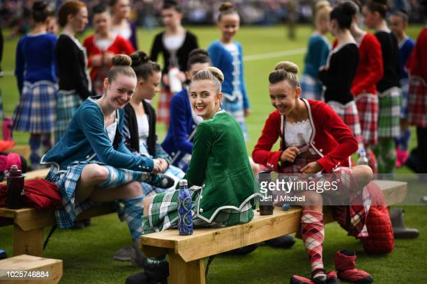 Dancers wait to compete during the Annual Braemar Highland Gathering on September 1 2018 in Braemar Scotland The Braemar Gathering is the most famous...