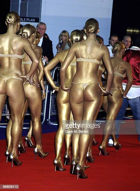 Dancers with Kanye West arrive at The Brit Awards 2006 with MasterCard at Earls Court 1 on February 15 2006 in London England The 26th annual music...