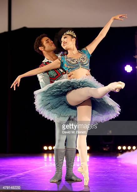 Dancers Yonah Acosta and Shiori Kase of the English National Ballet perform as Eco World Ballymore welcomes English National Ballet to its new home...