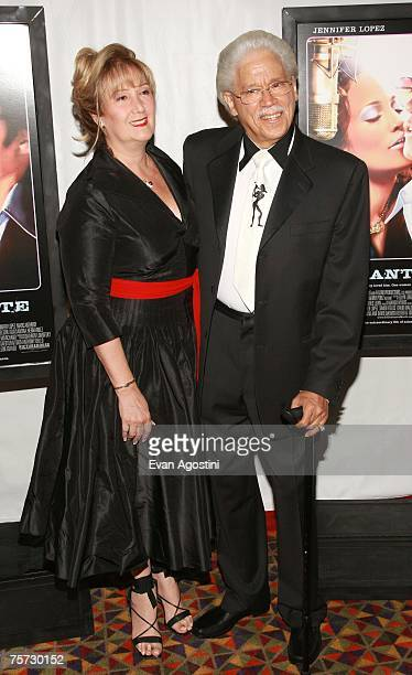 "Dancer/singer Iris Chacon and musician Johnny Pacheco attend the premiere of ""El Cantante"" at the 42nd street AMC Theatre on July 26, 2007 in New..."