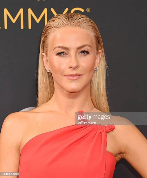 Dancer/singer/actress Julianne Hough arrives at the 68th Annual Primetime Emmy Awards at Microsoft Theater on September 18 2016 in Los Angeles...