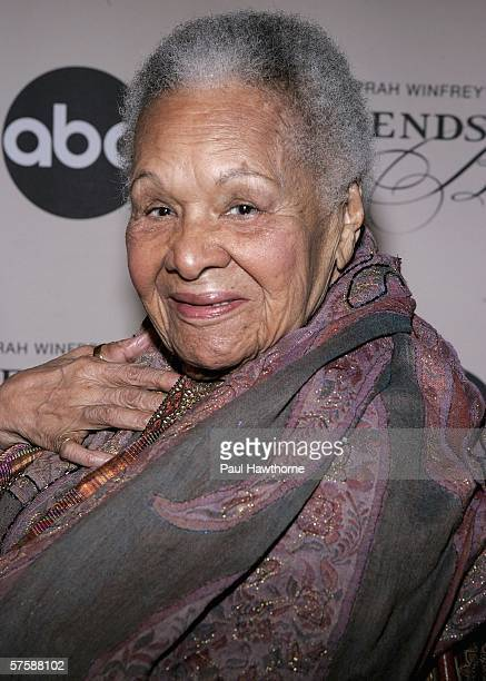 Dancer/songwriter Katherine Dunham attends the screening of Oprah Winfrey's Legends Ball at JP Morgan Library May 11 2006 in New York City