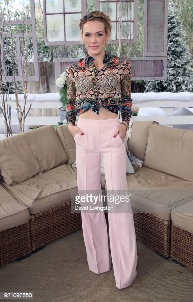 Dancers/TV personality Peta Murgatroyd visits Hallmark's Home Family at Universal Studios Hollywood on February 19 2018 in Universal City California