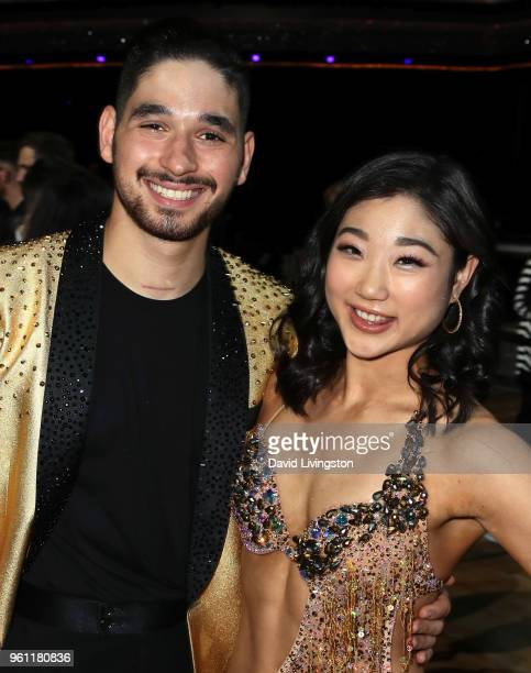 Dancer/TV personality Alan Bersten and figure skater Mirai Nagasu pose at ABC's 'Dancing with the Stars Athletes' Season 26 Finale on May 21 2018 in...