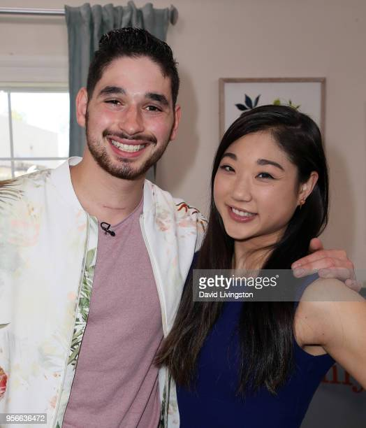Dancer/TV personality Alan Bersten and Olympic figure skater Mirai Nagasu visit Hallmark's 'Home Family' at Universal Studios Hollywood on May 9 2018...