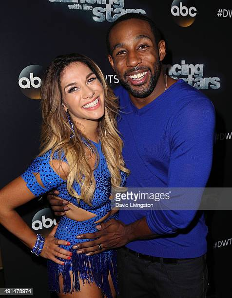 Dancer/TV personality Allison Holker and husband dancer Stephen 'tWitch' Boss attend 'Dancing with the Stars' Season 21 at CBS Televison City on...