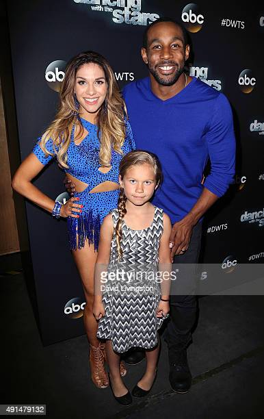 Dancer/TV personality Allison Holker and husband dancer Stephen 'tWitch' Boss pose with Holker's daughter Weslie Renae Fowler at 'Dancing with the...