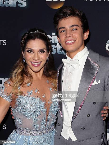 Dancer/TV personality Allison Holker and social media personality Hayes Grier attend 'Dancing with the Stars' Season 21 at CBS Televison City on...
