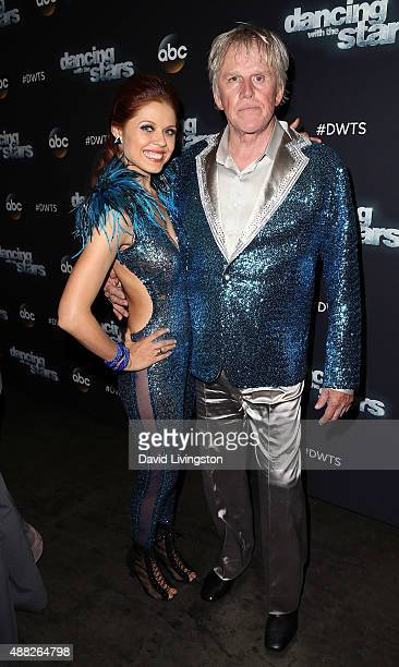 Dancer/TV personality Anna Trebunskaya and actor Gary Busey attend ABC's 'Dancing with the Stars' photo op at CBS Studios on September 14 2015 in Los...