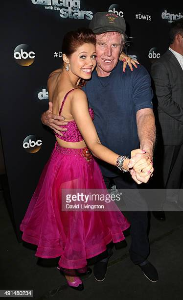Dancer/TV personality Anna Trebunskaya and actor Gary Busey attend 'Dancing with the Stars' Season 21 at CBS Television City on October 5 2015 in Los...