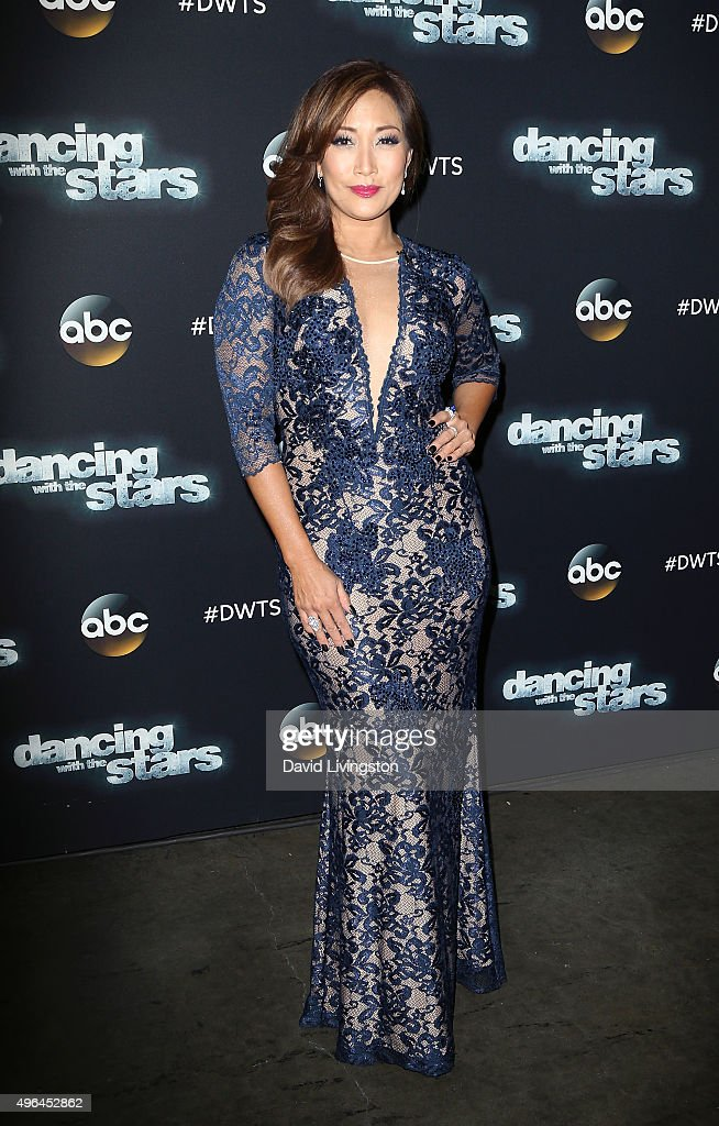 Dancer/TV personality Carrie Ann Inaba attends 'Dancing with the Stars' Season 21 at CBS Televison City on November 9, 2015 in Los Angeles, California.